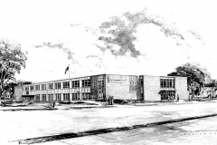 Early images of the Assumption Catholic School (ACS) building